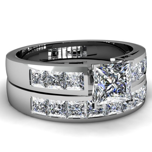 1 Ct Princess Cut Diamond Engagement Wedding