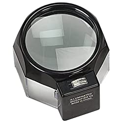 Lighted Glass Dome Magnifier - 5X Magnification