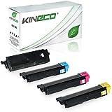 4 Toner kompatibel zu Kyocera TK580 ECOSYS P6021 CDN FS-C 5150 DN - TK580K ´TK580C TK580M TK580Y - Schwarz 4.000 Seiten, Color 3.000 Seiten