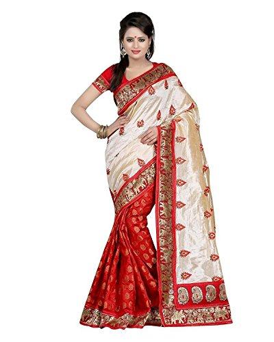 Winza Women's Cotton Silk Printed Saree (Bhagalpuri Silky Touch Red_multicolor)