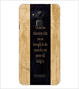 PrintDhaba Quote D-3273 Back Case Cover for COOLPAD NOTE 3 LITE (Multi-Coloured)