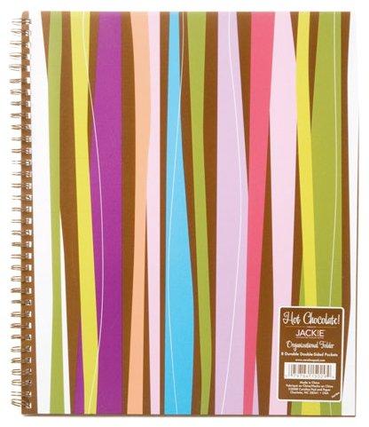 Carolina Pad Hot Chocolate 8-Pocket Organizational Folder Pixie Sticks Design, 9.75 x 11.25 Inches (15029)
