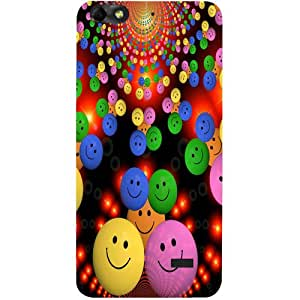 Casotec Cheerful Smiley Design Hard Back Case Cover for Huawei Honor 4C