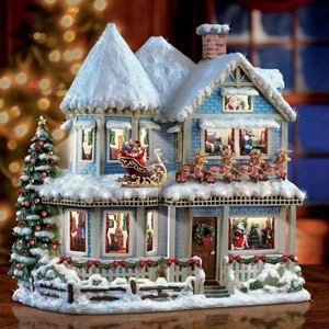 thomas kinkade twas the night before christmas collectible story house by the bradford exchange - Twas The Night Before Christmas Decorating Ideas