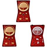 Gold Plated GL Pooja Thali Set 2 Set And Silver Plated Royal Pooja Thali Set