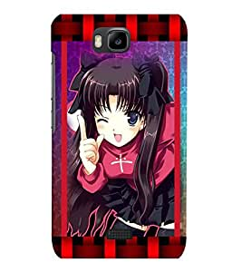 Fuson 3D Printed Girly Designer back case cover for Huawei Honor Bee - D4157