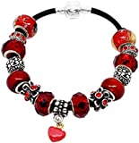Handmade Beautiful Red Bracelet with Red Gift Box by Libby's Market Place