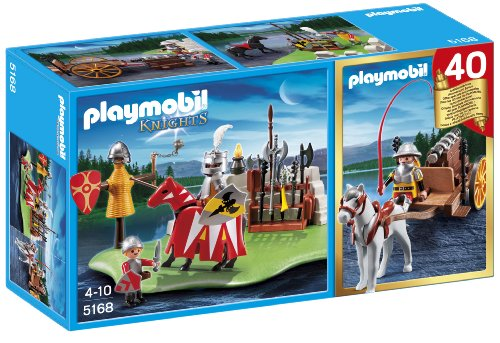 Playmobil 40Th Anniversary Knight'S Tournament Compact Set And Cannon Wagon front-923364
