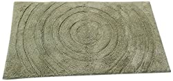 Textile Décor Castle Hill Bath Mat with Spray Latex Backing, Echo Design, 24 by 40-Inch, Sage