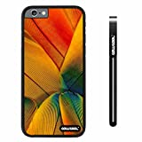 CowCool® Apple iphone 6 4.7 inch Case Hard PC Colorful birds feathers Black Shell Single Layer Protective Case (#2) image