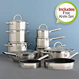 ProCook Professional stainless steel Cookware Set 10 Piece