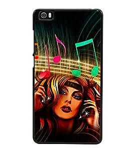 Music Graffiti 2D Hard Polycarbonate Designer Back Case Cover for Xiaomi Mi 5 :: Redmi Mi5