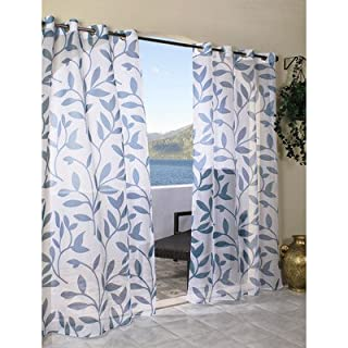 Outdoor decor Escape Leaf Outdoor or Indoor Voile Panel, 54 x 96