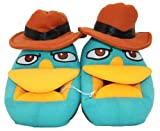 Disney Phineas and Ferb Agent P Perry the Platypus Plush Slippers Kid Size 13/1