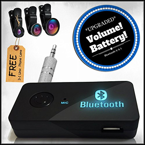 Wireless Bluetooth Audio Receiver By Play The Prize - Car System, Headphones, Home Speakers Connected - Auto Connect Function - Low Power Reminder - For All Music Lovers - Free Gift For You (Auto Bluetooth Kit compare prices)