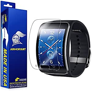 ArmorSuit MilitaryShield Samsung Gear S Screen Protector Anti Bubble Ultra HD Extreme Clarity & Touch Responsive Shield with Lifetime Free Replacements Retail Packaging