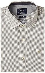 Basics Men's Formal Shirt (8907054473069_14BSH31347_Beige_M)