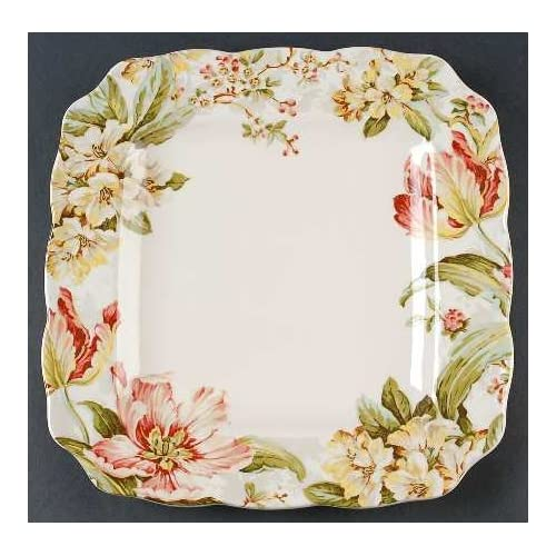 222 Fifth Ellis Square Dinner Plates, Set of 4, Spring Tulips Cherry ...: http://www.amazon.com/222-Fifth-Square-Dinner-Blossoms/dp/images/B00BL0STZ6