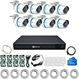 EZVIZ HD 1080p Video Security System, 8 Weatherproof IP PoE Cameras, 100ft Night Vision, 16 Channel NVR with 3 TB HDD