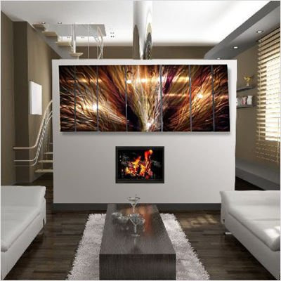 """Large Abstract Metal Wall Art """"ZION"""" by Artist Ash Carl"""