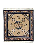 Eden Carpets Alfombra Antic Finish Beige/Azul 214 x 214 cm