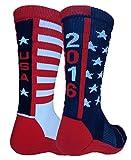 2016 USA Pride Athletic Crew Socks (Navy/Red/White, Large)
