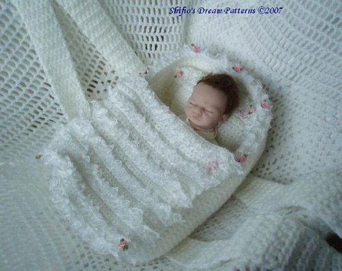 Carrycot Doll Crochet Pattern 77 USA