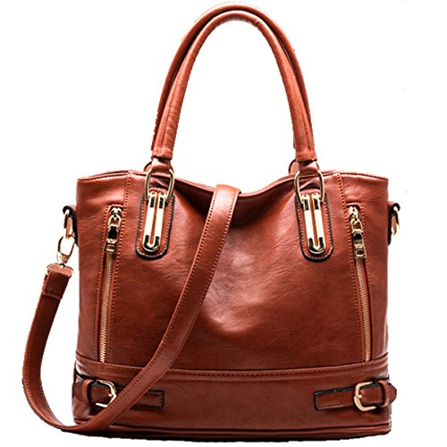 807863774a7 Di Grazia Stylish Sequined Italy Leather Shoulder Sling Women Satchel  Handbag - Royal Brown