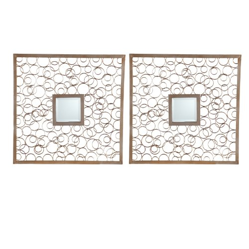 Nimbus Decorative Metal Mirror Set - 20W x 20H in. each - Set of 2