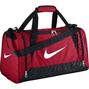 Nike Brasilia 6 Duffel Small Gym Red/Black/White Size Small