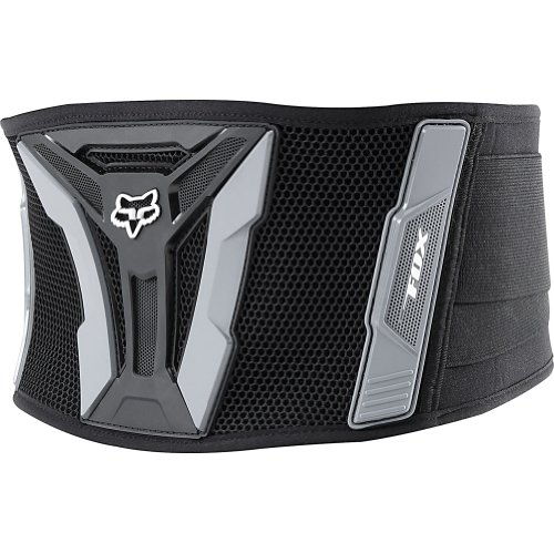 Fox Racing  Turbo Adult Kidney Belt Dirt Bike Motorcycle Body Armor - Black/Grey / Regular