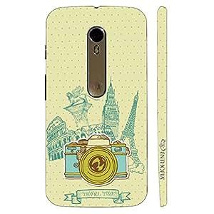 Enthopia Designer Hardshell Case Travel Time Back Cover for Motorola Moto X Style