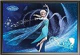 Frozen – Poster – Snow Queen + Wechselrahmen der Marke Shinsuke® Maxi aus edlem Aluminium (ALU) Profil: 30mm schwarz