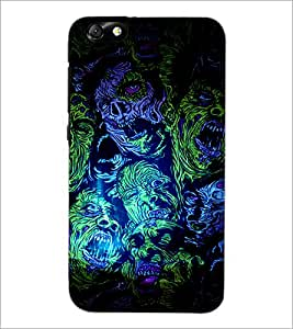 PrintDhaba Abstract Design D-3236 Back Case Cover for HUAWEI HONOR 4X (Multi-Coloured)