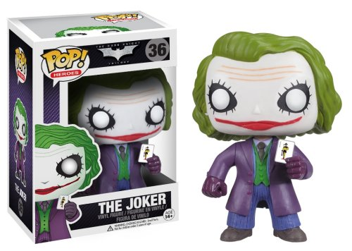 Funko POP Heroes: Dark Knight Movie The Joker Vinyl Figure at Gotham City Store