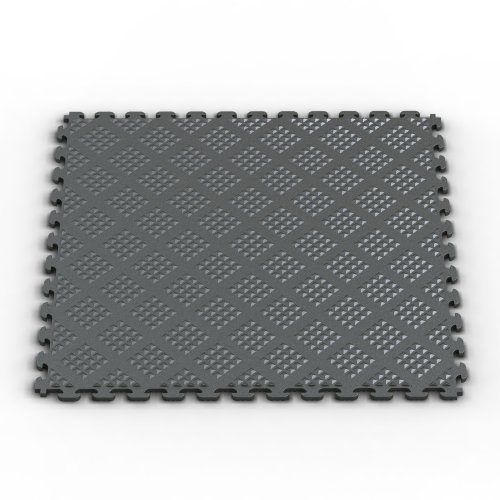 Norsk-Stor NSMPRD6MG  Raised Diamond Multi-Purpose PVC Flooring, Metallic Graphite, 6-Pack