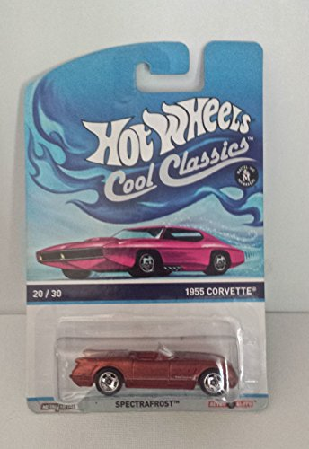 Hot Wheels Cool Classics 20/30 1955 Corvette, Spectrafrost 1955 Convertible Corvette