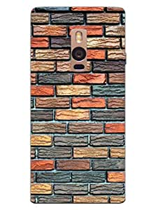 OnePlus 2 Back Cover - Bricks - Wall Of Colors - Designer Printed Hard Shell Case