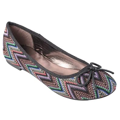 Journee Collection Womens Bow Detail Round Toe Ballet Flats