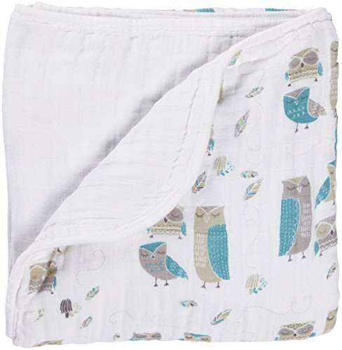 Aden + Anais Organic Dream Blanket, Wise Guys