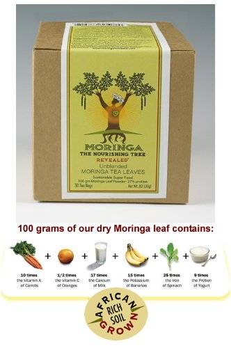 Moringa Tea - 100% Unblended (Hi-Potency) Kosher Certified African Grown