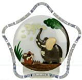Nightlights : Elephant & Bucket : Size 9 x 9 x 4.5cm : Battery-operated Night Lights : Handcrafted Wooden Designs Mounted on a Plastic Unit : A Popular Gift for Children