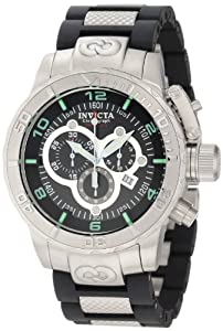 Invicta Men's 6674 Corduba Chronograph Black Dial Polyurethane Watch