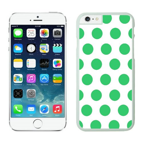 Gifts Polka Dot White and Green Iphone 6 case white cover