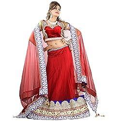 Aagaman Fashions Net Lehenga Choli (TSSF10013_Red)