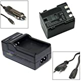 Nahas-Shop Set Battery Charger for Canon MV800, MV790, MV800i, MV830, MV830i, MV850i, MV880 x, MV880Xi, MV890, BP - 2L5, E160814, NB - 2L and BP - 2L12
