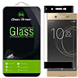 Dmax Armor- Sony Xperia XA1 Ultra [Tempered Glass] Screen Protector, (Full Screen Coverage) With Lifetime Replacement Warranty (Black)