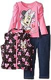 Disney Little Girls' Minnie Mouse 3 Piece Nylon Vest Set