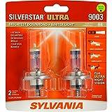 Sylvania 9003/H4 SilverStar Ultra Halogen Headlight Bulb, (Pack of 2)