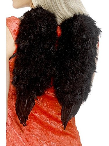 Smiffys Angel Wings Black Feather